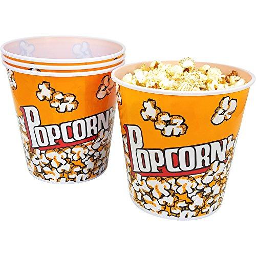 n Eimer, Popcornschüssel mit einem Fassungsvermögen von je 2,8 Litern (04 Stück) ()