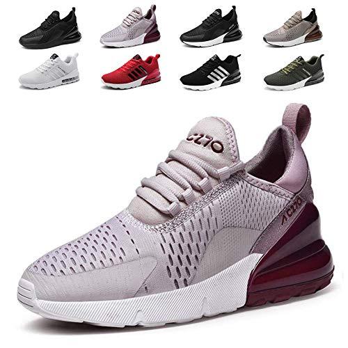 smarten Sportschuhe Herren Damen Laufschuhe Luftkissen Schuhe Turnschuhe Fitness Gym Leichtes Bequem Sommer Trekking Sneakers Purple 37 EU