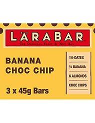 LÄRABAR Banana Choc Chip Fruit and Nut Bar, 3 x 45 g