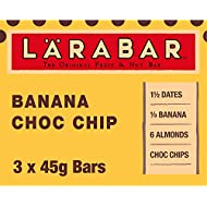 LÄRABAR Banana Choc Chip Fruit and Nut Bar, 3 x 45 g
