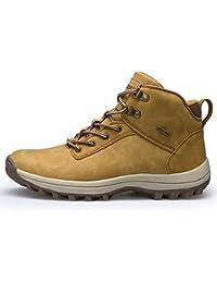 Fexkean Hombres Zapatillas de Senderismo Trekking y Senderismo Zapatos Para Correr EN Montaña y Asfalto Aire Libre y Deportes Boats Sneakers High Top 38-46