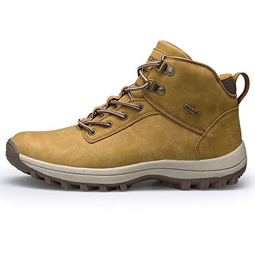 Fexkean Herren Trekking Wanderschuhe Wasserdicht Outdoor Stiefel Hiking Sport Schuhe Laufschuhe Stiefel(Khaki42) (Wasserdicht Männer Stiefel Für Winter)