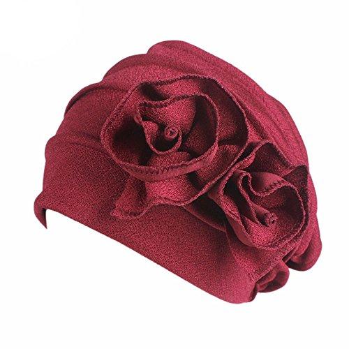 TEBAISE Damen Blume Muslim Turban Chemo Krebs Cap Kopftuch Kopfbedeckung