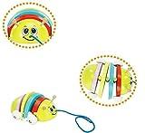 Yannay Juguetes para niños Madera Colorido Ladybug- Tire a lo Largo de los Juguetes para el bebé