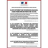 ALCOOL - PROTECTION DES MINEURS ET RÉPRESSION DE L'IVRESSE - Consommation sur place - Autocollant waterproof - L.148 x H.210