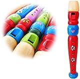 KEEPDRUM KFL1RD Kinder-Flöte aus Holz Rot