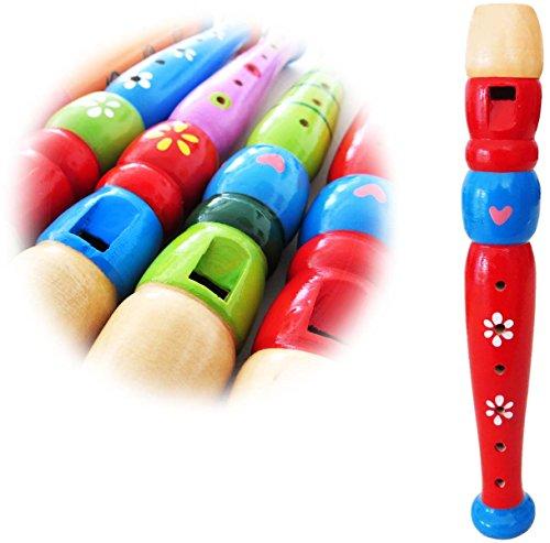 KEEPDRUM KFL1RD Flöte aus Holz für Kinder Rot Kinderflöte - Kinder-flöte Holz