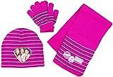 Violetta Set Mütze, Schal und Handschuhe für Kinder, pink gestreift, original Lizenzware