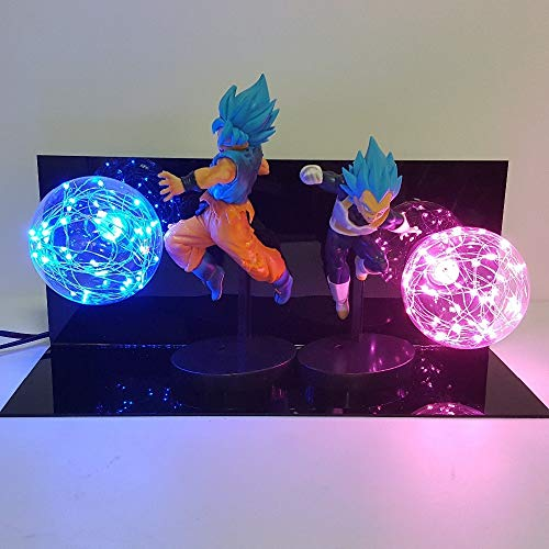 Dragon Ball Super Lámpara Goku Vegeta Kamehameha Galick PISTOLA Lamparas Dragon Ball Z Goku Super Saiyan DBZ Led Luces de la noche Lámpara de escritorio