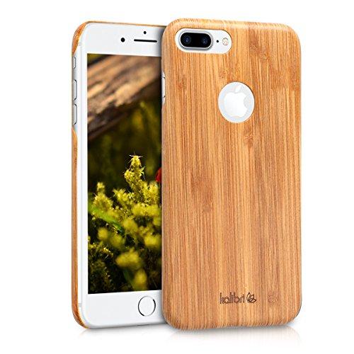 kalibri-Holz-Case-Hlle-fr-Apple-iPhone-7-Plus8-Plus-Handy-Cover-Schutzhlle-aus-Echt-Holz-und-Kunststoff-Mix-Bambusholz-in-Hellbraun