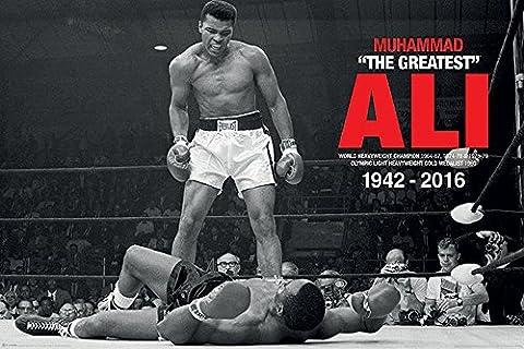 Empireposter–Muhammad Ali commemor ative–Ali V Liston–Taille (cm), Description:–Sport Poster env. 91,5x 61cm–poster photo de Match de Boxe Muhammad Ali