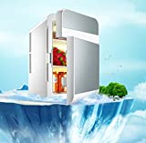 20L Auto Mini Kühlschrank Dual Cooling Car Und Home Dual Zweck Dual / 12 / 220V Energiesparend Leise,Silver(20L)