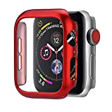TianranRT Coque ultrafine pour Apple Watch 4 40/44 mm, rouge