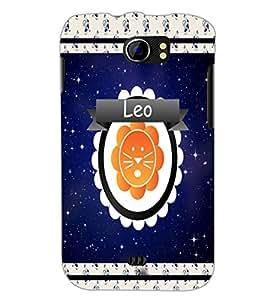 PrintDhaba Zodiac Leo D-2769 Back Case Cover for MICROMAX A110Q CANVAS 2 PLUS (Multi-Coloured)