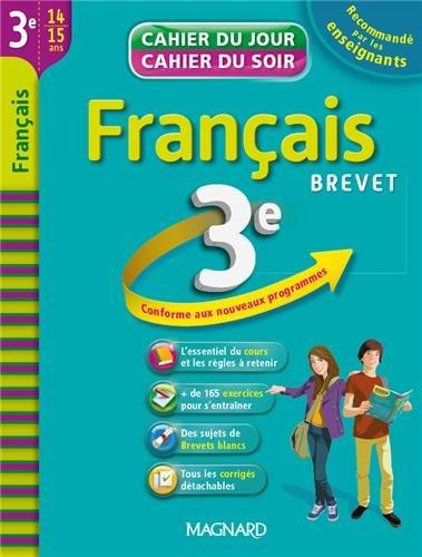 Français 3e : cahier de révision et d'entraînement