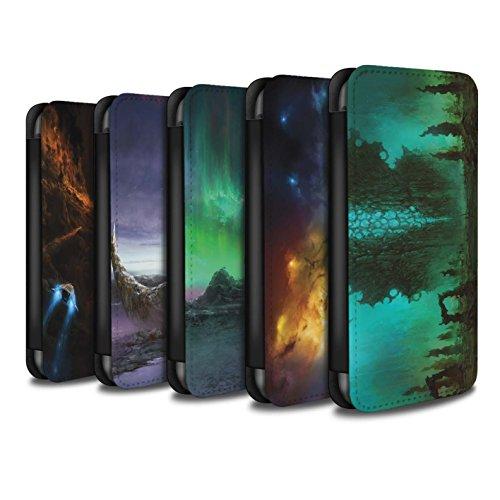 Offiziell Chris Cold PU-Leder Hülle/Case/Tasche/Cover für Apple iPhone 4/4S / Chaos Entfesselt Muster / Fremden Welt Kosmos Kollektion Pack 12pcs