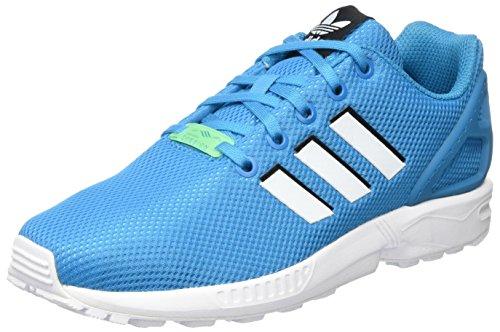 Adidas Zx Flux J, Unisexe-bambini Scarpe Da Ginnastica Blu (bold Aqua / Chaussures Blanc / Chaussures Blanc)