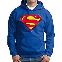 Sweatshirt Superman Logo mit Kapuze und Taschen - 803 -