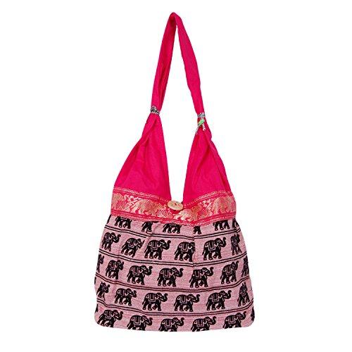 Womaniya (Handicraft Jhola Bag) Women's Shoulder Bag -Pink  available at amazon for Rs.245