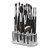 byAlegory Acrylic Makeup Beauty Brush Organiser for Slim Handles | 26 Space Cosmetic Storage Display Container