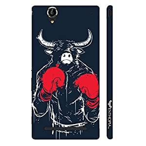 Sony Xperia T3 Bull Fight designer mobile hard shell case by Enthopia