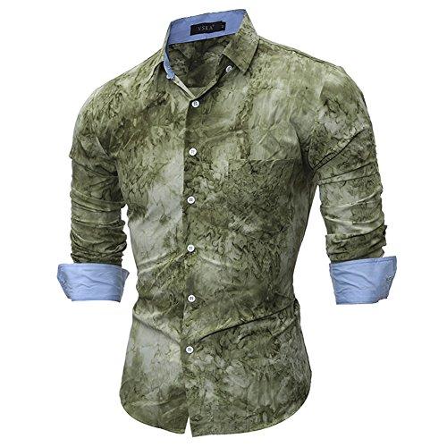 Sunshey Herren Freizeit-Hemd Grün