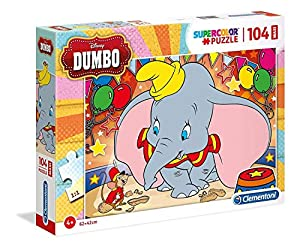 Clementoni Supercolor puzzle-dumbo-104Piezas Maxi, 23728