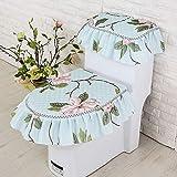 XING GUANG Vier-Jahreszeiten-WC Dreiteilige Set Stoff-Reißverschluss-Typ Hochwertige WC-Sitzkissen Sitzkissenbezug,Blue
