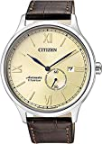 Citizen Herren Analog Mechanik Uhr mit Leder Armband NJ0090-13P