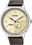 Citizen Herren Analog Mechanik Uhr mit Leder Armband NJ0090-13P