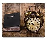 Die besten Liili Schreibtische - Mousepads Holly Bibel mit Uhr auf Holz Fokus Bewertungen