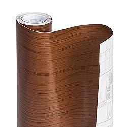 ELTON Light Oak Wood Adhesive Decorative Vinyl Shelf Liner 12 X 48 Inches