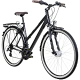28 Zoll Galano Damen ALU Trekking Rad Bike Fahrrad Shimano 21 Gang StVZO, Rahmengrösse:45 cm