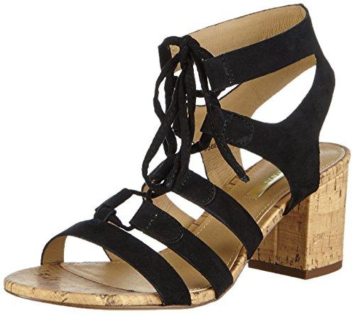 ESPRIT Redy Sandal, Damen Knöchelriemchen Sandalen, Schwarz (001 black), 39 EU