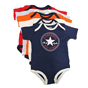CONVERSE All Star Infant Baby 5 Bodysuit Gift Set - Boys, 3-6M