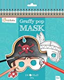 Avenue Mandarine GY022O Un carnet de Coloriage masque - Graffy Pop Mask - Garçon...