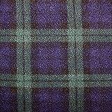 Fleece-Stoff für den Winter, hochwertig, warm, Anti-Pilling, kariert und gestreift, OD5593-BLACK WATCH, SAMPLE(8CMx8CM)