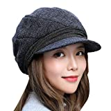 fish Frauen Woll Beret Octagon Hut Herbst-Winter-Warm-Maler Ballonmütze Weinlese-Plaid-Beret Gelegenheits