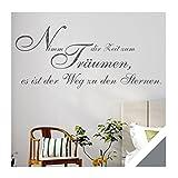 Exklusivpro Wandtattoo Wand-Spruch Nimm dir Zeit zum Träumen… mit SWAROVSKI (zit44 silbergrau) 120cm