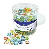 Playbox PBX2471162 2471162 Glass Nuggets, Diameter-1.9 cm, Multi Color