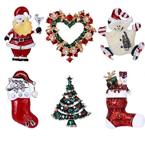 elegant-rose-natale-spilla-pin-6colorati-strass-cristallo-xmas-regalo-per-natale-ornaments-regali