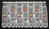 Scheibengardine bunte Früchte für die Küche 45 cm hoch | Breite der Gardine durch Stückzahl in 34 cm Schritten wählbar!