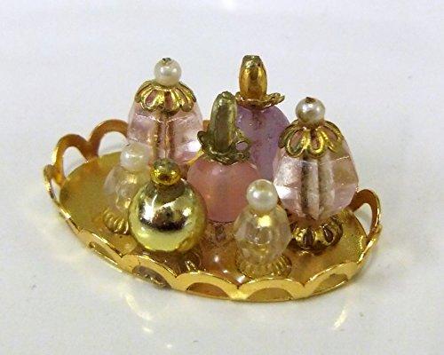 Preisvergleich Produktbild Puppenhaus Miniatur Badezimmer Schlafzimmer Damen Zubehör Tablett mit Parfüms B