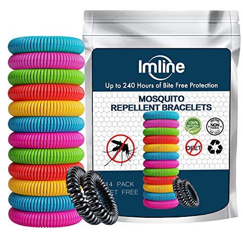 Mückenschutz Armband (14 Stück) Mückenarmband Armbänder zum Schutz gegen Mücken Camping wandern Zubehör für Kinder und Erwachsene