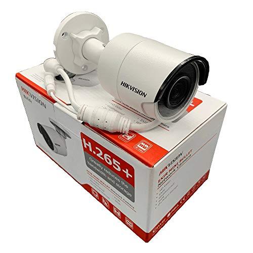 Hikvision 8MP POE IP Kamera H.265 DS-2CD2085FWD-I Sicherheitskamera mit eingebautem SD Slot, bis zu 128 GB, IP67 120 dB WDR International Version (2,8 mm Objektiv)