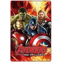 Marvel Avengers ph4520Decke Plaid, Fleece, 150cm, Kinder, Mehrfarbig, Captain America, Iron Man, Thor, Hulk rot