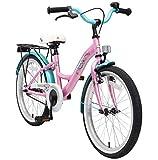 BIKESTAR Premium Sicherheits Kinderfahrrad 20 Zoll für Mädchen ab 6-7 Jahre ★ 20er Kinderrad Classic ★ Fahrrad für Kinder Pink