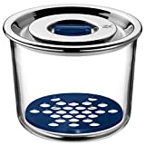 WMF Top Serve Vorratsdose rund Ø 13 cm, mit Abtropfgitter, luftdichtem Deckel, Frische-Ventil, Multifunktions-Schalen zum Vorbereiten, Aufbewahren und Servieren