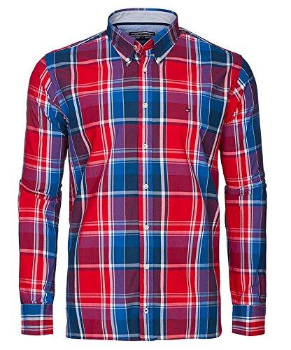TOMMY HILFIGER CUSTOM FIT Camicia Uomo maniche Lunghe colore RED (M, MONTANA RED)