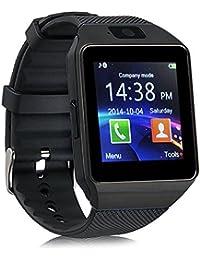 reloj inteligente Tarjeta Bluetooth llamada Viejo regalo infantil Reloj del teléfono Recordatorio sedentario Conteo de pasos Mensaje push Dz09 (negro, dorado, plateado, blanco) ( Color : Black )